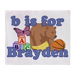B is for Brayden Throw Blanket