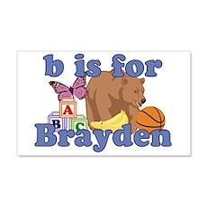 B is for Brayden 22x14 Wall Peel