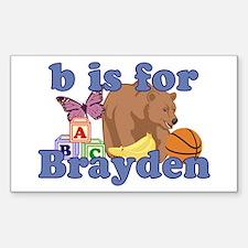 B is for Brayden Sticker (Rectangle)