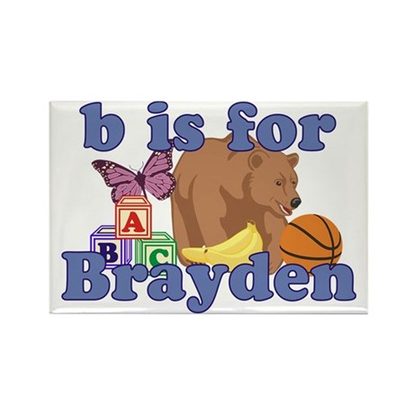 B is for Brayden Rectangle Magnet (10 pack)