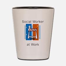 Social Worker at Work Shot Glass