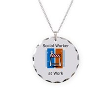 Social Worker at Work Necklace