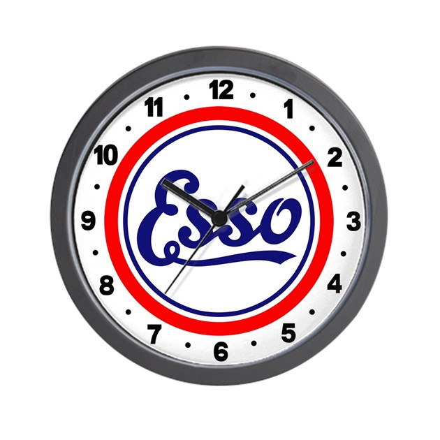 esso gasoline wall clock by classiccartees