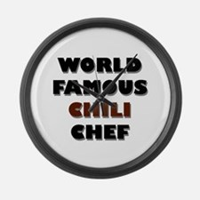 World Famous Chili Chef Large Wall Clock