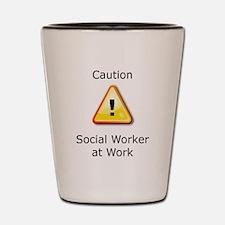 Unique Social work month Shot Glass