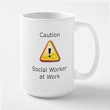 Caution Social Worker Mugs