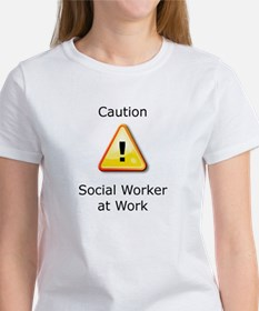 Caution Social Worker T-Shirt