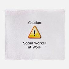 Cute Social work month Throw Blanket