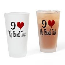 Heart My Bomb Tech Home/Offic Pint Glass