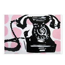 ANTIQUE PHONE Postcards (Package of 8)