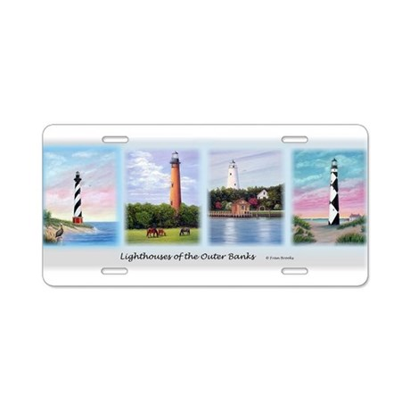Lighthouses of the Outer Banks Aluminum License Pl