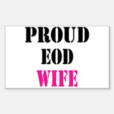 Proud EOD Home/Office Sticker (Rectangle)