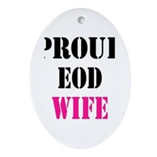 Proud EOD Home/Office Ornament (Oval)