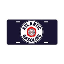 Atlantic Gasoline Aluminum License Plate