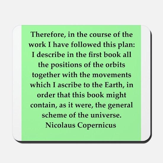 Nicolas Copernicus quotes Mousepad