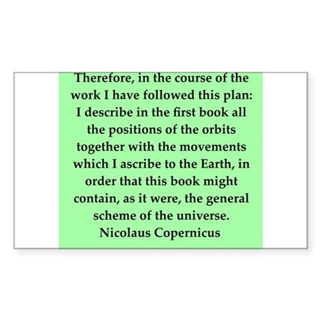 Nicolas Copernicus quotes Sticker (Rectangle)