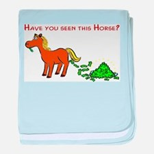 Have you seen this Horse? baby blanket
