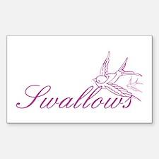 Swallows Sticker (Rectangle)
