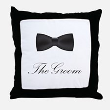The Groom Bow Tie Throw Pillow