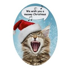 Singing Cat Christmas Ornament