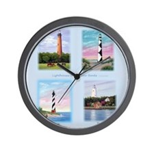 Lighthouses Of The Outer Banks Wall Clock