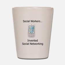 Funny Social work month Shot Glass