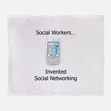 Funny Social work month Throw Blanket