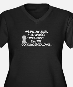 The Man in Black...Women's Plus Size V-Neck Dark T