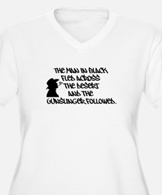 The Man in Black... Women's Plus Size V-Neck Tee