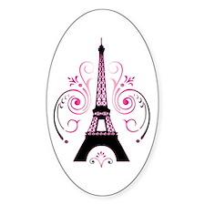 Eiffel Tower Gradient Swirl Decal