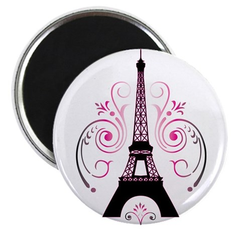 Eiffel Tower Gradient Swirl Magnet