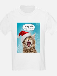 Singing Christmas Cat T-Shirt