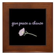 Peace Blossoms Framed Tile