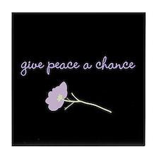 Peace Blossoms Tile Coaster