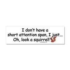 Attention Span Squirrel Car Magnet 10 x 3