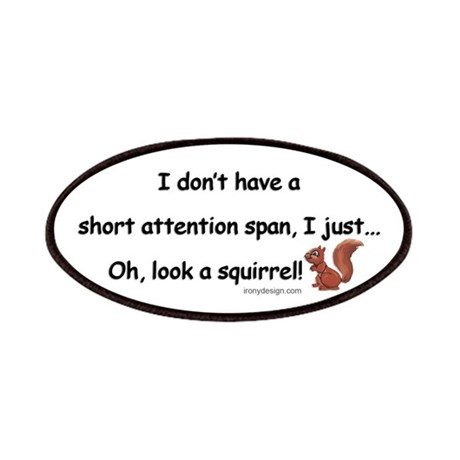 Attention Span Squirrel Patches