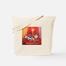 Read Knit Love Tote Bag