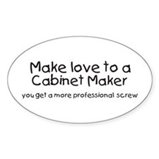 cabinet maker Oval Decal