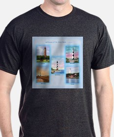 Lighthouses of the Outer Banks T-Shirt