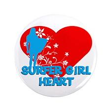 "Surfer Girl 3.5"" Button"