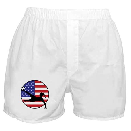 US Women's Soccer Boxer Shorts