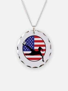 US Women's Soccer Necklace