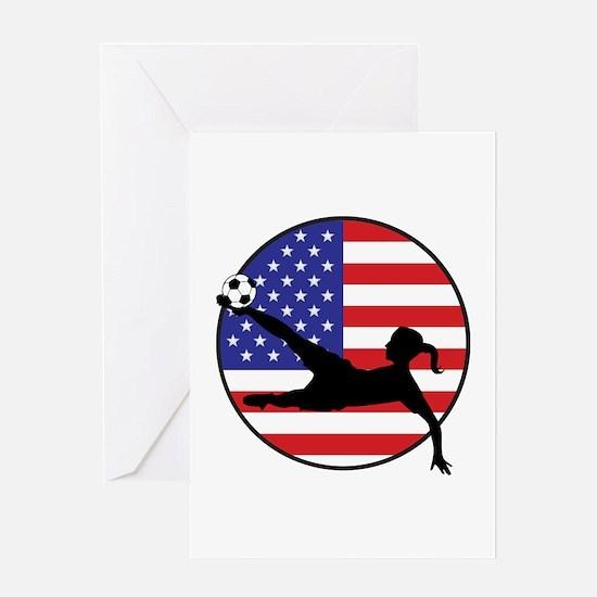 US Women's Soccer Greeting Card