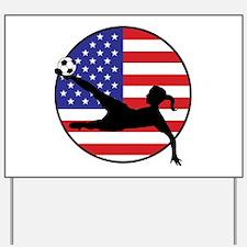 US Women's Soccer Yard Sign
