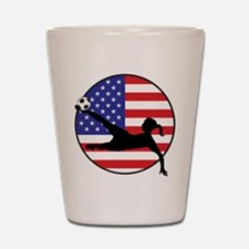 US Women's Soccer Shot Glass