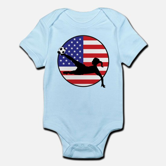 US Women's Soccer Infant Bodysuit