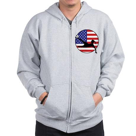 US Women's Soccer Zip Hoodie