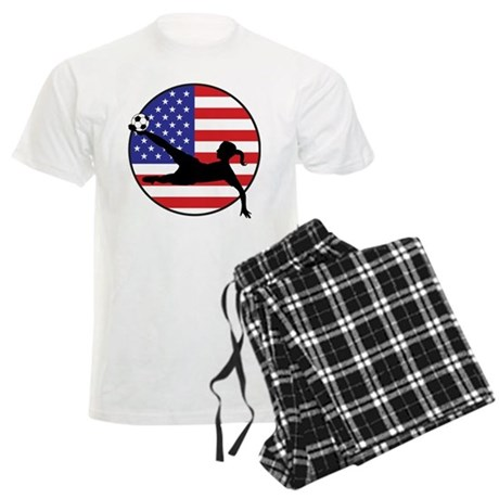 US Women's Soccer Men's Light Pajamas