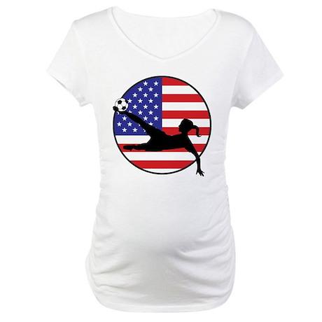 US Women's Soccer Maternity T-Shirt