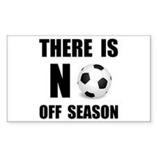 No Off Season Soccer Black Decal